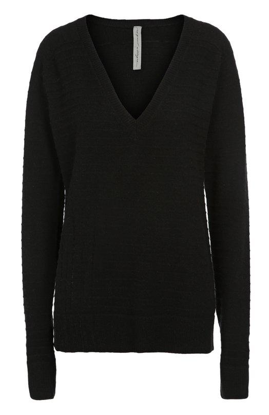 Купить Пуловер свободного кроя с V-образным вырезом Raquel Allegra, Y63-6332, Китай, Черный, Шерсть: 70%; Кашемир: 30%;