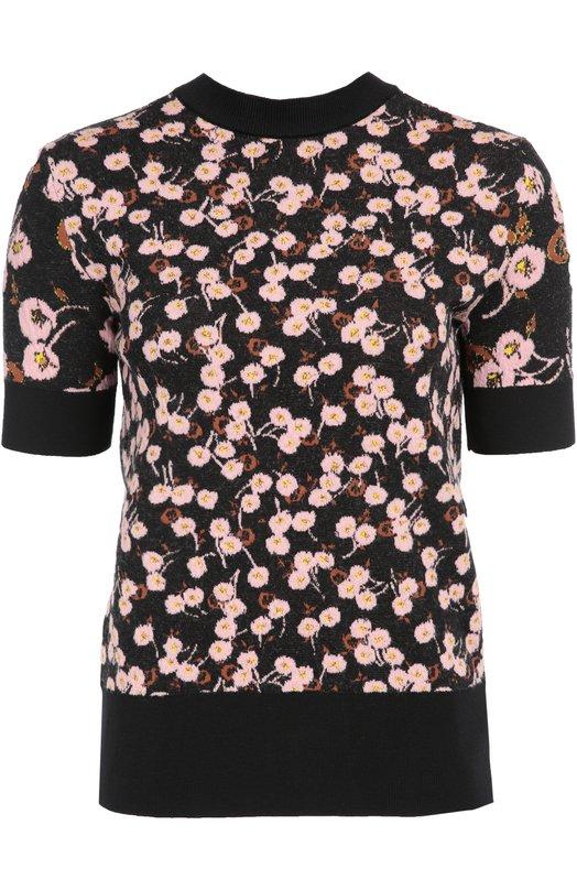 Пуловер прямого кроя с цветочным принтом и открытой спиной Marni GCMDU14EQ0FW545