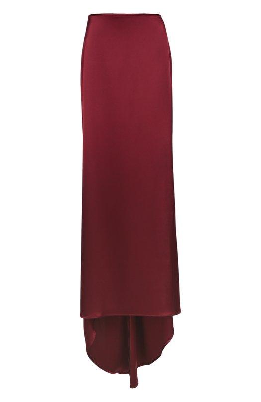 Юбка в пол прямого кроя с подолом St. JohnЮбки<br>Макси-юбка с небольшим шлейфом вошла в осенне-зимнюю коллекцию 2016 года. При создании вечерней модели мастера марки использовали плотный гладкий сатин бордового оттенка. Наши стилисты советуют носить с черными сабо, темным свитшотом и розовым клатчем в виде книги.<br><br>Российский размер RU: 52<br>Пол: Женский<br>Возраст: Взрослый<br>Размер производителя vendor: 14<br>Материал: Триацетат: 78%; Полиэстер: 22%;<br>Цвет: Красный