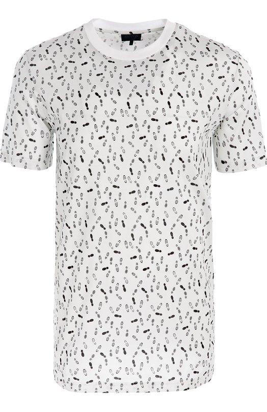 Купить Хлопковая футболка с принтом Lanvin Италия 5082521 RMJE0036A16