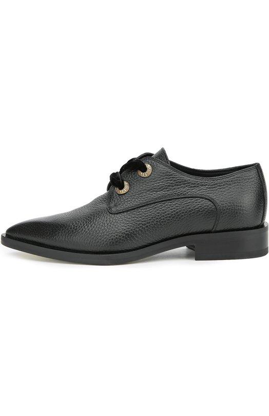 Кожаные ботинки с зауженным мысом Lanvin FW-SHCDP5-RUBY-A16