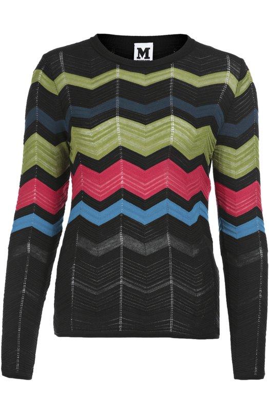 Пуловер прямого кроя в контрастную полоску M Missoni LD3KC04X/27J