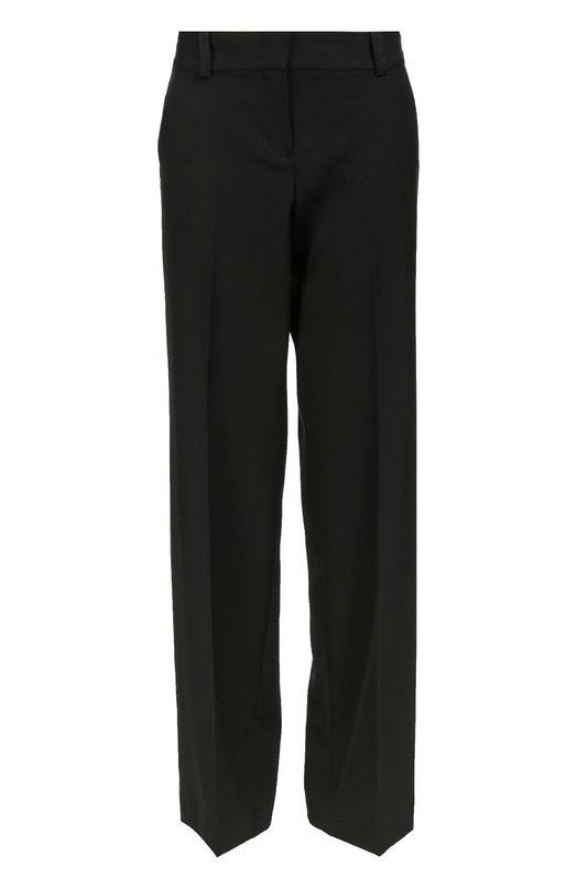 Широкие брюки прямого кроя со стрелками DKNYБрюки<br>Широкие брюки со стрелками и посадкой на талии вошли в коллекцию сезона осень-зима 2016 года. Модель с двумя боковыми и двумя задними прорезными карманами сшита из мягкой и тонкой шерсти черного цвета. Советуем носить с белой рубашкой и ботильонами в тон.<br><br>Российский размер RU: 40<br>Пол: Женский<br>Возраст: Взрослый<br>Размер производителя vendor: 2<br>Материал: Шерсть: 100%;<br>Цвет: Черный