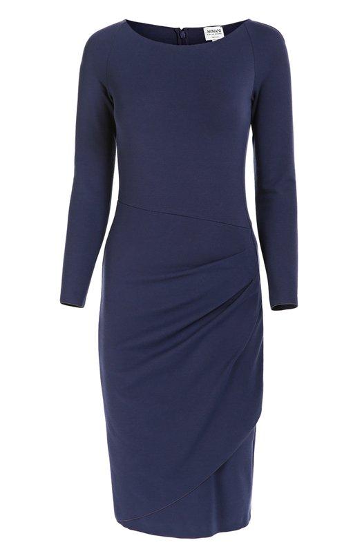 Облегающее платье с вырезом-лодочка и драпировкой Armani Collezioni 6XMA50/MJFAZ