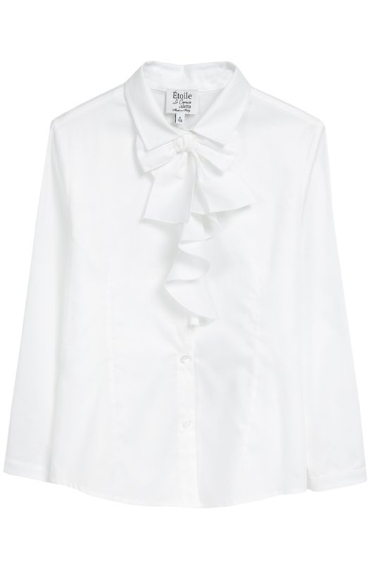 Хлопковая блуза с бантом Aletta AC666255/3-8