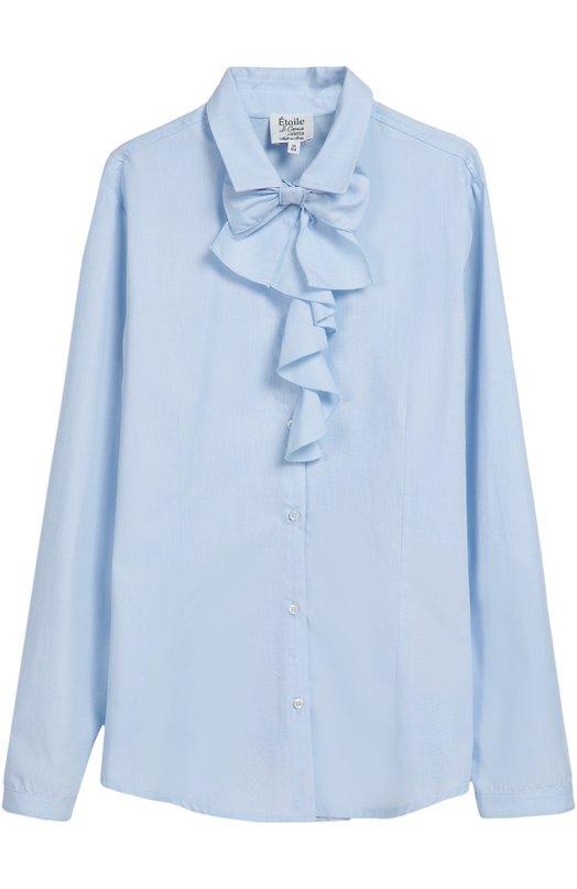 Хлопковая блуза с бантом Aletta AC666255/9-16