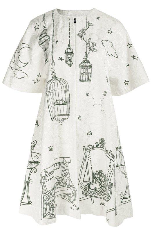 Пальто свободного кроя с укороченным рукавом и контрастным принтом Dolce & Gabbana 0102/F0Q14T/GDC54
