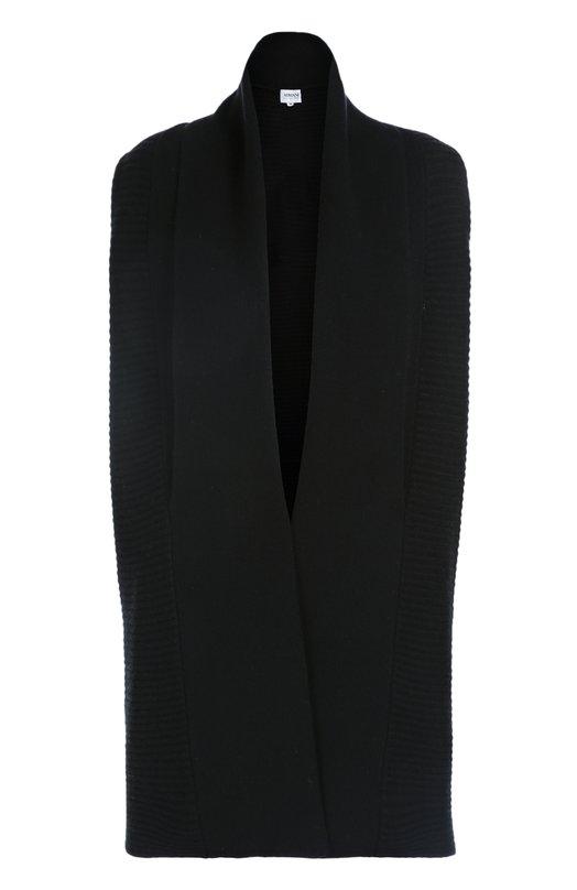 Шерстяной удлиненный жилет фактурной вязки Armani Collezioni 6XMQ02/MM02Z