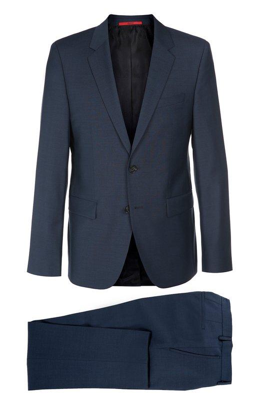 Шерстяной приталенный костюм HUGO 50303169