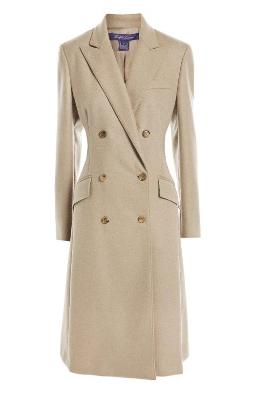 Двубортное приталенное пальто с карманами Ralph Lauren 910/IXQ78/FXQ78