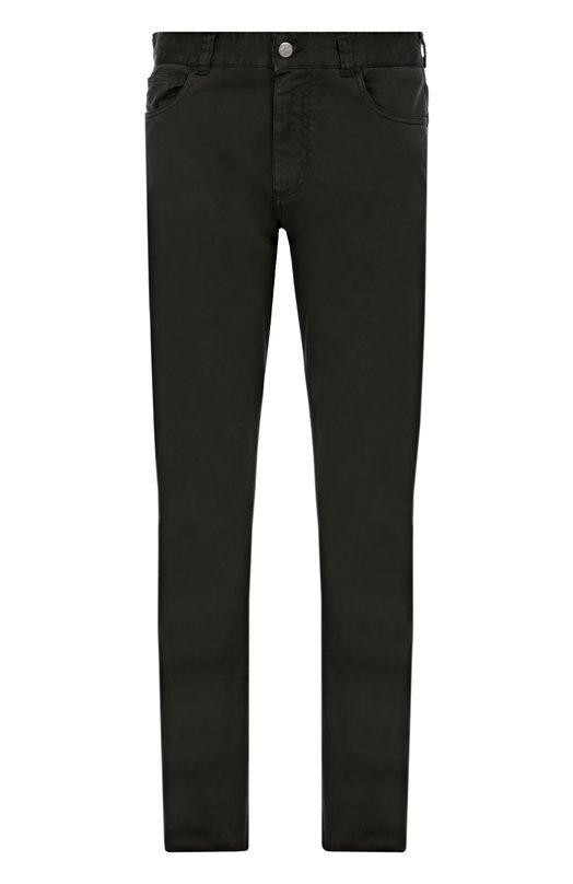 Слаксы из эластичного хлопка CanaliБрюки<br>Для пошива черных слаксов мастера марки выбрали плотный эластичный хлопок. Брюки вошли в осенне-зимнюю коллекцию 2016 года. Наши стилисты советуют носить со светлым поло с длинным рукавом и темными ботинками.<br><br>Российский размер RU: 52<br>Пол: Мужской<br>Возраст: Взрослый<br>Размер производителя vendor: 50<br>Материал: Хлопок: 98%; Эластан: 2%;<br>Цвет: Черный