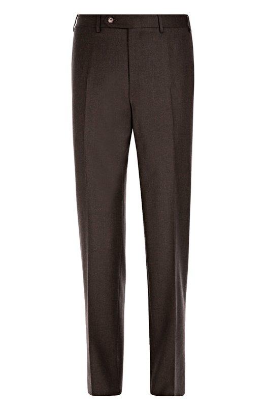 Классические шерстяные брюки CanaliБрюки<br>В коллекцию сезона осень-зима 2016 года вошли зауженные коричневые брюки со стрелками. Модель с четырьмя карманами выполнена из тонкой мягкой шерсти. Нам нравится сочетать с лоферами в тон и темно-синим поло.<br><br>Российский размер RU: 46<br>Пол: Мужской<br>Возраст: Взрослый<br>Размер производителя vendor: 46-R<br>Материал: Шерсть: 100%;<br>Цвет: Коричневый