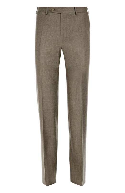 Классические шерстяные брюки CanaliБрюки<br>Бежевые зауженные брюки со стрелками и четырьмя карманами вошли в коллекцию сезона осень-зима 2016 года. Мастера бренда выполнили модель из тонкой мягкой шерсти. Рекомендуем носить с синим поло и коричневыми оксфордами.<br><br>Российский размер RU: 58<br>Пол: Мужской<br>Возраст: Взрослый<br>Размер производителя vendor: 58-R<br>Материал: Шерсть: 100%;<br>Цвет: Темно-бежевый