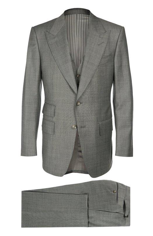 Шерстяной костюм тройка Tom Ford 822R0331AL43
