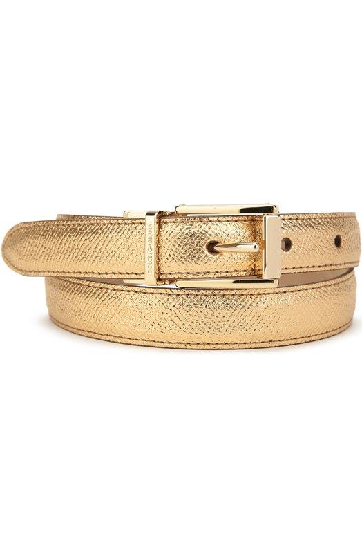 Ремень из металлизированной кожи Dolce & Gabbana