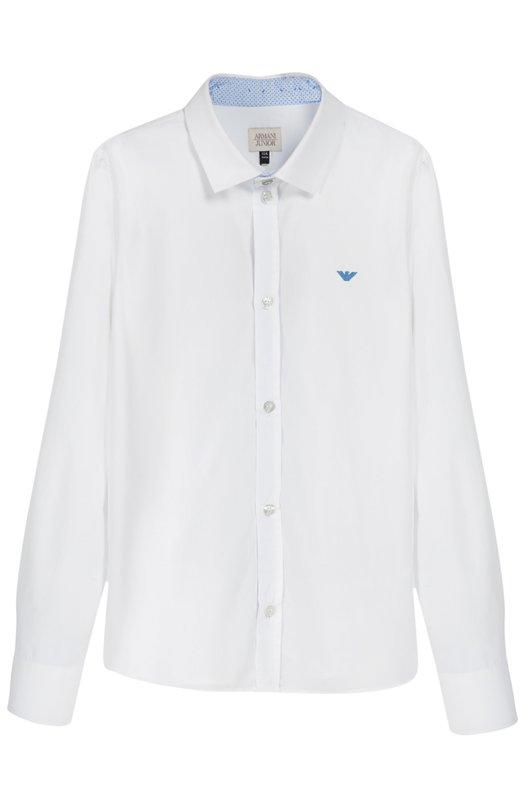 Хлопковая рубашка с воротником кент Giorgio Armani 6X4C15/4N0GZ/11A-16A
