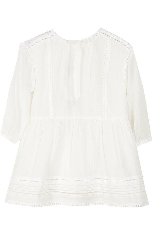 Хлопковое платье с длинным рукавом Burberry 4011383