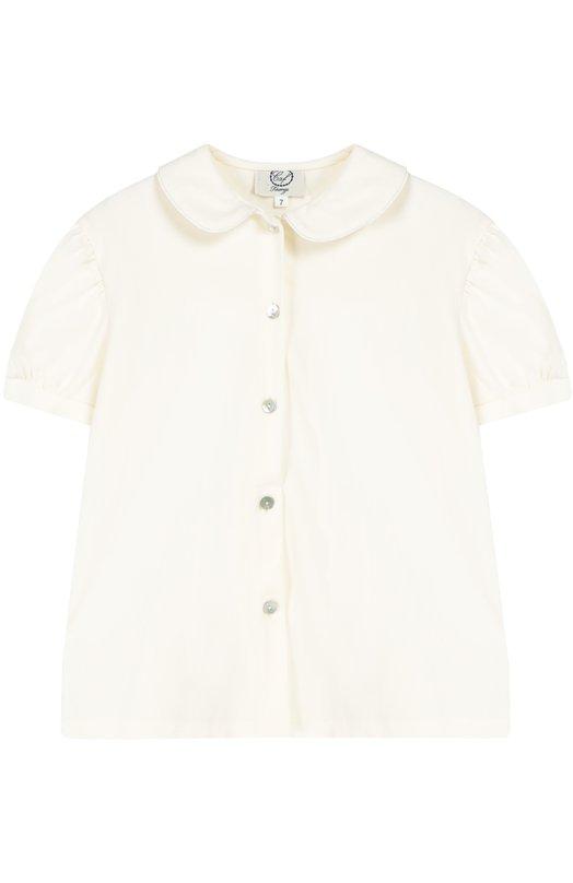 Хлопковая блуза с коротким рукавом Caf CAMIC.2-ME/6A-8A