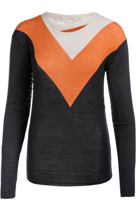 Пуловер с круглым вырезом и контрастным принтом Stella McCartney 429824/S1666