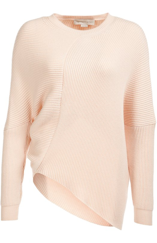 Пуловер асимметричного кроя со спущенным рукавом Stella McCartney