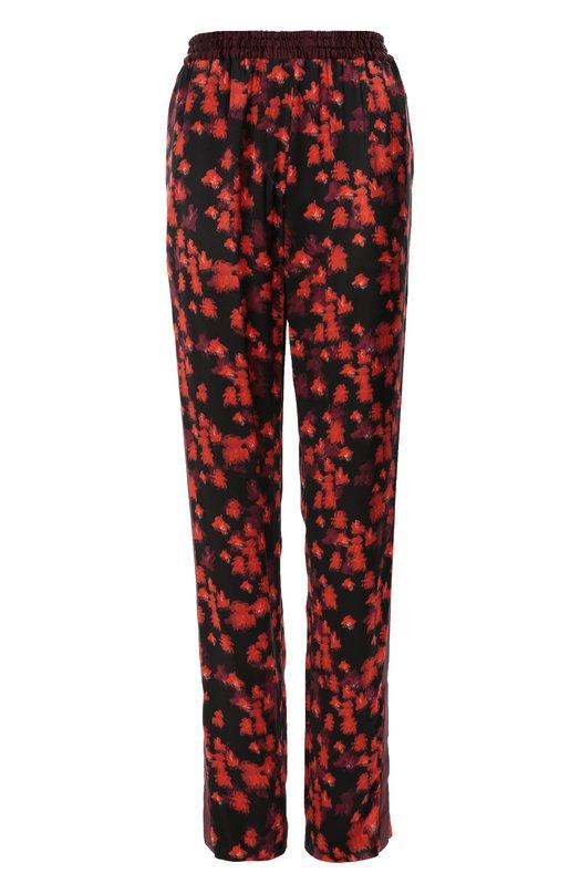Шелковые брюки с эластичным поясом и цветочным принтом Givenchy 16X/5016/369