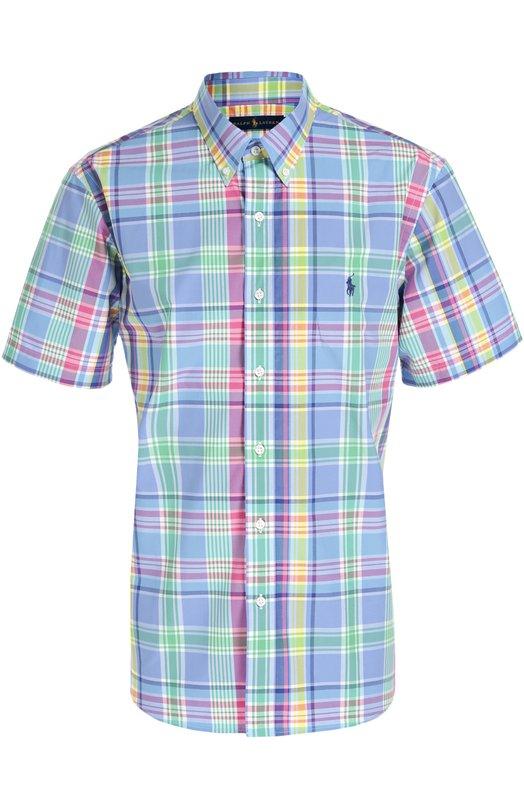 Хлопковая рубашка с короткими рукавами Polo Ralph Lauren A04/W33AD/C55ZA