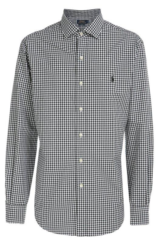 Хлопковая рубашка в клетку gingham Polo Ralph Lauren A04/W37CR/C55AK
