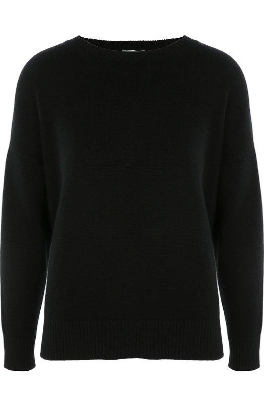 Кашемировый пуловер свободного кроя со спущенным рукавом Saint LaurentСвитеры<br>В свою последнюю коллекцию для бренда, основанного Ивом Сен-Лораном, сезона осень-зима 2016 года Эди Слиман включил черный свитер со спущенной линией плеч. Модель с круглым вырезом и длинным рукавом выполнена из мягкого тонкого кашемира. Нам нравится сочетать с белой юбкой и ботинками в тон.<br><br>Российский размер RU: 52<br>Пол: Женский<br>Возраст: Взрослый<br>Размер производителя vendor: XL<br>Материал: Подкладка-шелк: 100%; Кашемир: 100%;<br>Цвет: Черный