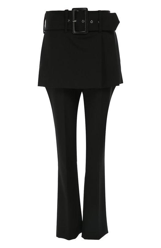 Шерстяные брюки прямого кроя с баской и широким поясом Givenchy 16A/5017/130