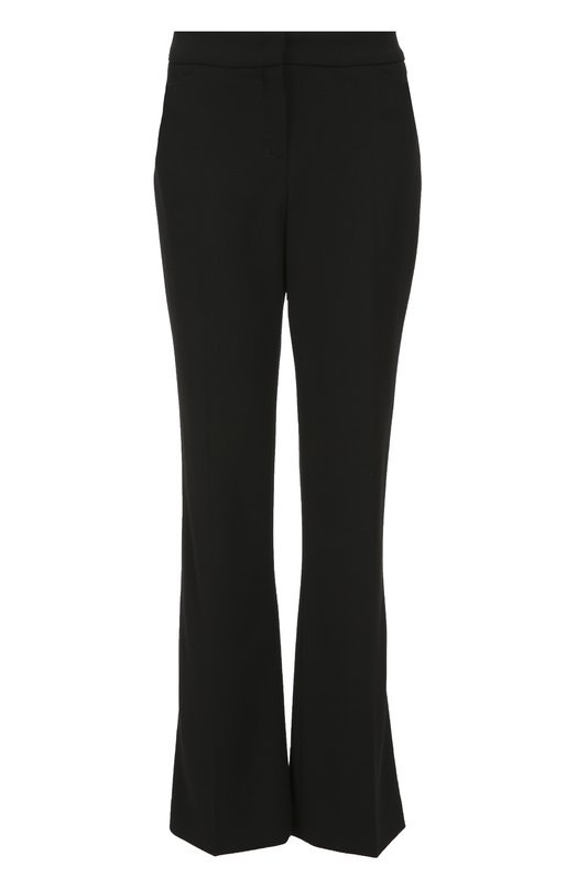 Шерстяные расклешенные брюки с карманами EscadaБрюки<br>Расклешенные черные брюки со стрелками вошли в коллекцию сезона осень-зима 2016 года. Модель с тремя карманами сшита из эластичной плотной шерсти. Попробуйте сочетать с ботильонами в тон, терракотовой водолазкой и коричневой сумкой.<br><br>Российский размер RU: 44<br>Пол: Женский<br>Возраст: Взрослый<br>Размер производителя vendor: 36<br>Материал: Шерсть: 98%; Подкладка-купра: 94%; Подкладка-эластан: 6%; Эластан: 2%;<br>Цвет: Черный