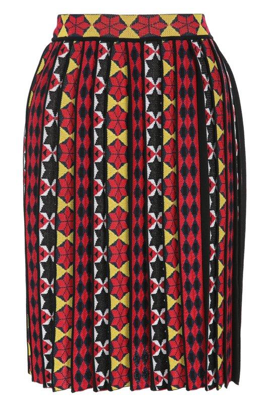 Плиссированная юбка-миди с ярким принтом Emilio Pucci 66/KV05/66993