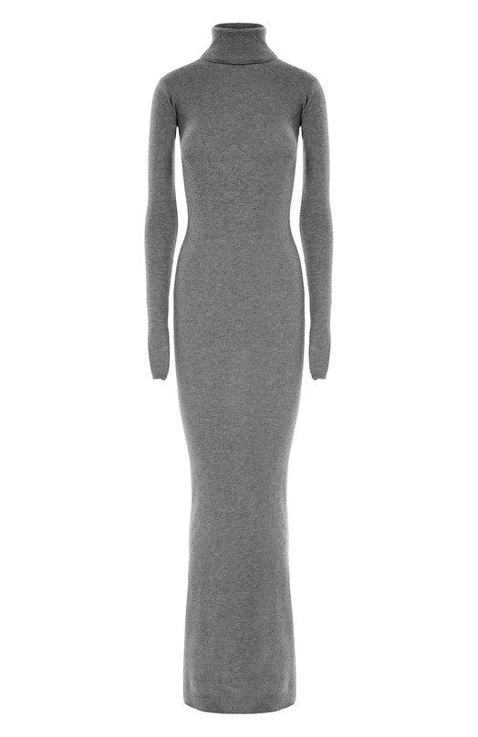 Облегающее платье-макси с длинным рукавом и высоким воротником Stella McCartneyПлатья<br>Стелла Маккартни включила в осенне-зимнюю коллекцию 2016 года длинное серое платье из тонкой шерстяной пряжи. Облегающая модель дополнена высоким воротником и длинным рукавом. Нам нравится сочетать с черными туфлями и сумкой.<br><br>Российский размер RU: 46<br>Пол: Женский<br>Возраст: Взрослый<br>Размер производителя vendor: 38<br>Материал: Шерсть овечья: 100%;<br>Цвет: Серый