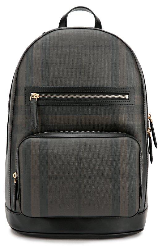 Рюкзак в клетку House Сheck с кожаной отделкой Burberry 3996212