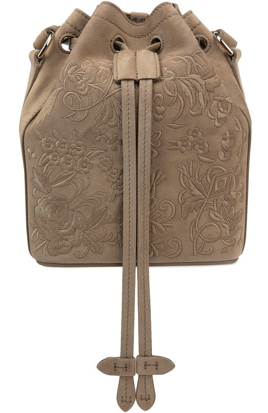 Замшевая сумка Floral Drawstring small с вышивкой Ralph Lauren 69H/IVP33/FVP33