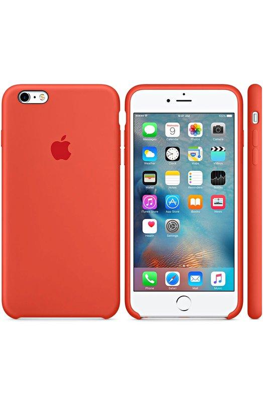 Силиконовый чехол для iPhone 6/6S Plus AppleЧехлы для iPhone<br><br><br>Пол: Женский<br>Возраст: Взрослый<br>Размер производителя vendor: NS<br>Цвет: Оранжевый