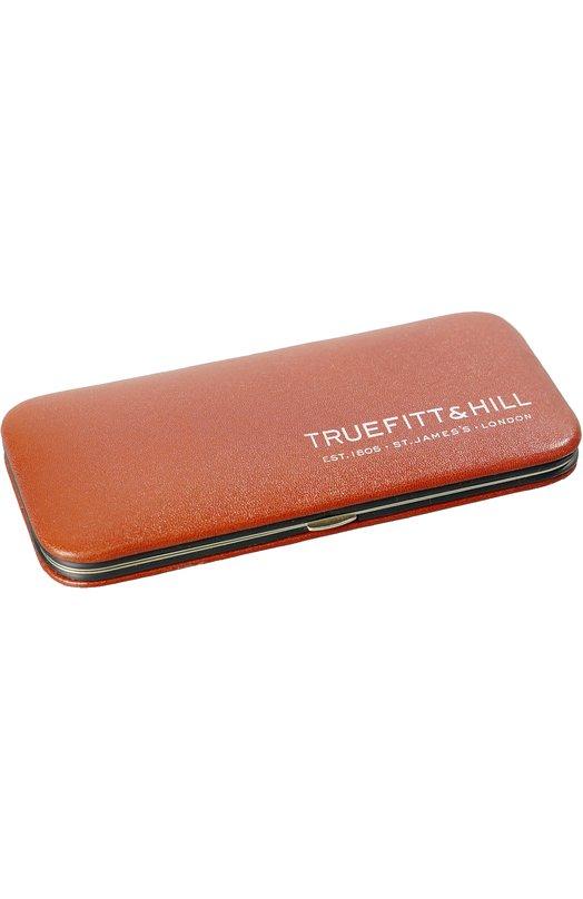Светло-коричневый маникюрный набор из 5 предметов в кожаном чехле TruefittHill 06443