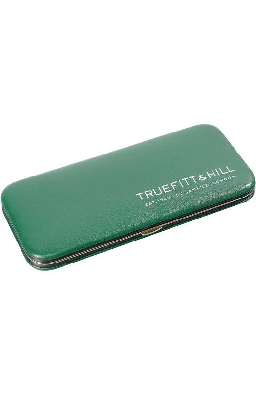 Зеленый маникюрный набор из 5 предметов в кожаном чехле TruefittHill 06450