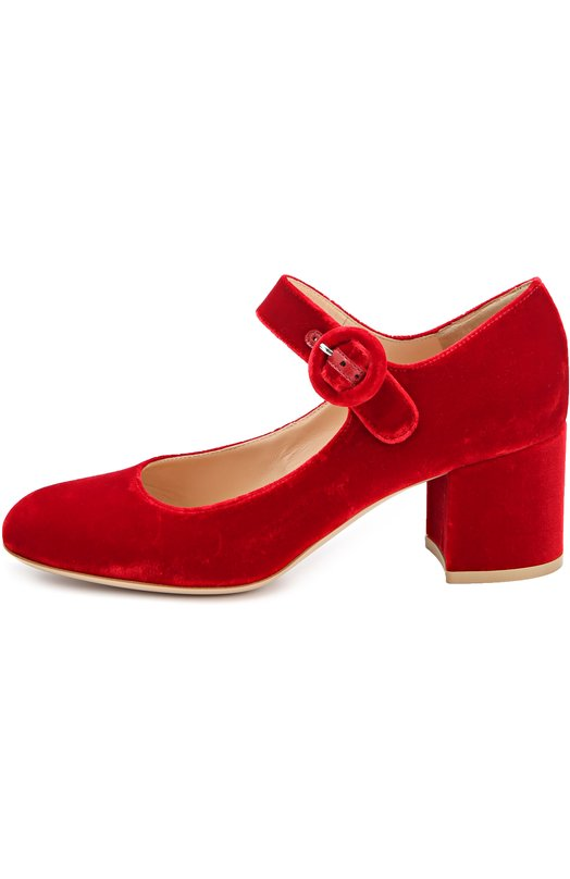 Бархатные туфли на устойчивом каблуке Gianvito RossiТуфли<br><br><br>Российский размер RU: 37<br>Пол: Женский<br>Возраст: Взрослый<br>Размер производителя vendor: 37<br>Материал: Стелька-кожа: 100%; Подошва-кожа: 100%; Текстиль: 100%;<br>Цвет: Красный
