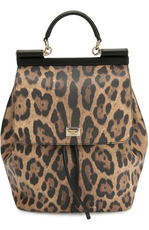 Рюкзак Sicily с леопардовым принтом Dolce & Gabbana 0116/BB5980/A7158