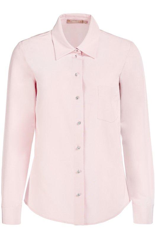 Блуза прямого кроя с накладным карманом Michael Kors KPH326A/KH035