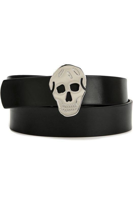 Кожаный ремень с пряжкой в форме черепа Alexander McQueen 430770/CQE0N