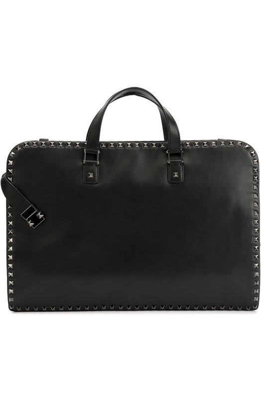 Кожаный портфель Rockstud с плечевым ремнем Valentino LY0B0538/VJR