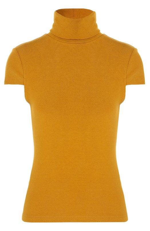 Пуловер с коротким рукавом и высоким воротником Alice + OliviaСвитеры<br>Мастера бренда выполнили желтую водолазку Conrad   из тонкого мягкого трикотажа. Облегающая модель с короткими рукавами вошла в коллекцию сезона осень-зима 2016 года. Рекомендуем сочетать с джинсами, косухой, кроссовками и рюкзаком.<br><br>Российский размер RU: 44<br>Пол: Женский<br>Возраст: Взрослый<br>Размер производителя vendor: M<br>Материал: Полиэстер: 61%; Эластан: 6%; Вискоза: 33%;<br>Цвет: Желтый