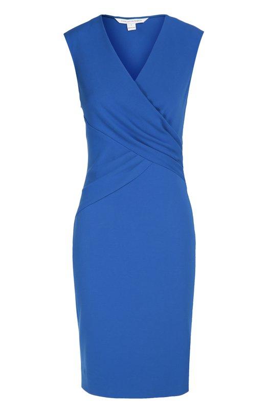 Платье Leora с драпировкой Diane Von FurstenbergПлатья<br>Синее платье-футляр Leora без рукавов вошло в осенне-зимнюю коллекцию марки, основанной Дианой фон Фюстенберг. Модель из эластичного текстиля украшена драпировкой, создающей иллюзию запаха. Наши стилисты рекомендуют сочетать с туфлями на шпильке и сумкой черного цвета.<br><br>Российский размер RU: 48<br>Пол: Женский<br>Возраст: Взрослый<br>Размер производителя vendor: 10<br>Материал: Вискоза: 71%; Эластан: 5%; Полиамид: 24%;<br>Цвет: Синий