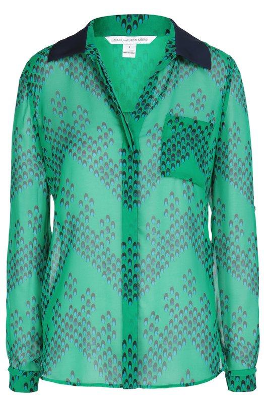Шелковая блуза Lorelei Two с принтом Diane Von Furstenberg S843701U16W