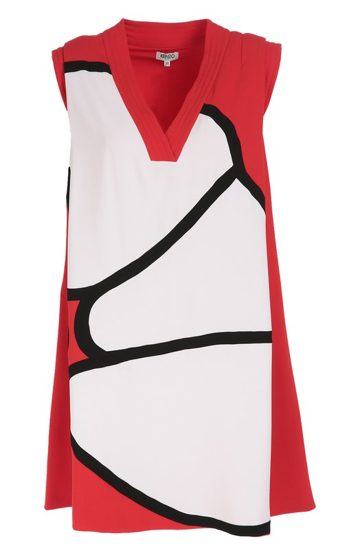 Мини-платье с принтом и V-образным вырезом Kenzo F662R00715AC