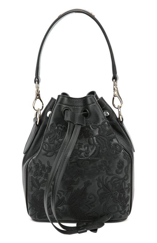Кожаная сумка Floral Drawstring small с вышивкой Ralph Lauren 69H/IVP53/FVP53