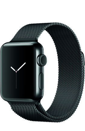 Apple Watch Series 2 38mm Space Black Stainless Steel Case with Milanese Loop Apple #color# | Фото №1