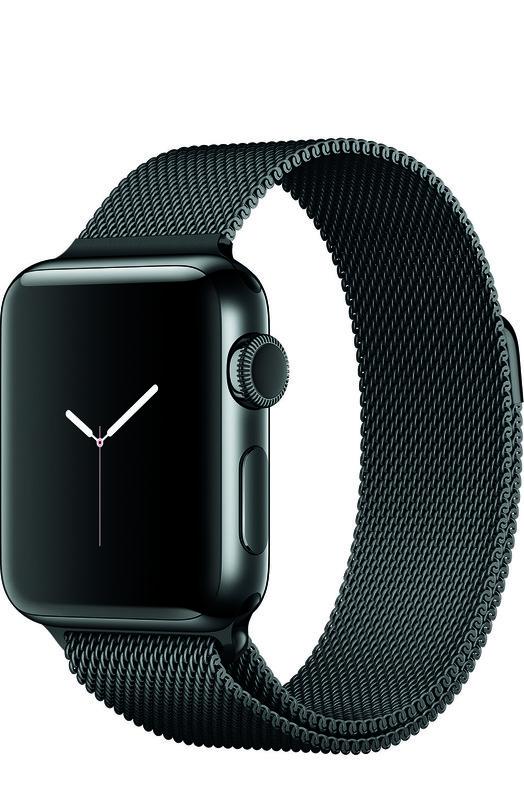 Apple Watch Series 2 38mm Space Black Stainless Steel Case with Milanese Loop AppleApple Watch<br>Доставка данного товара осуществится до 14 октября.<br><br>Пол: Женский<br>Возраст: Взрослый<br>Размер производителя vendor: S/M<br>Цвет: Черный