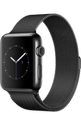 Apple Watch Series 2 42mm Space Black Stainless Steel Case with Milanese Loop Apple #color# | Фото №1